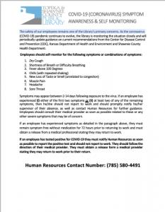 covid-19 symptom awareness
